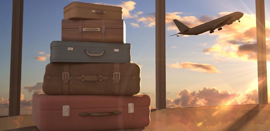 Luchthavenvervoer Oostende valiezen vliegtuig